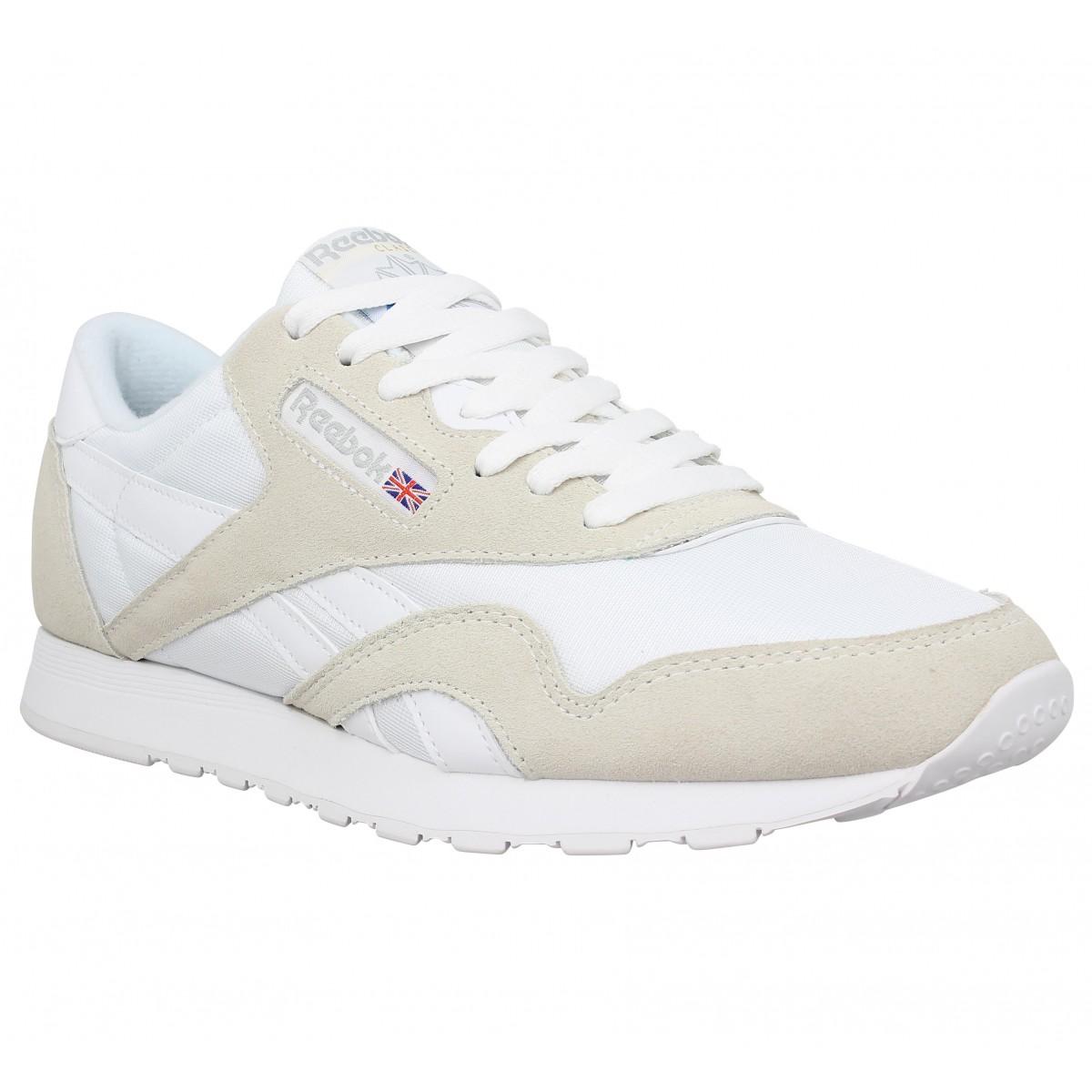 sale retailer affad 12828 Chaussures Toile Classic Blanc Homme Reebok Nylon Fanny nqYwvnHO