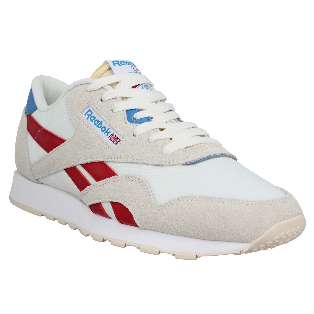 Baskets REEBOK Classic Nylon toile Homme Blanc Rouge