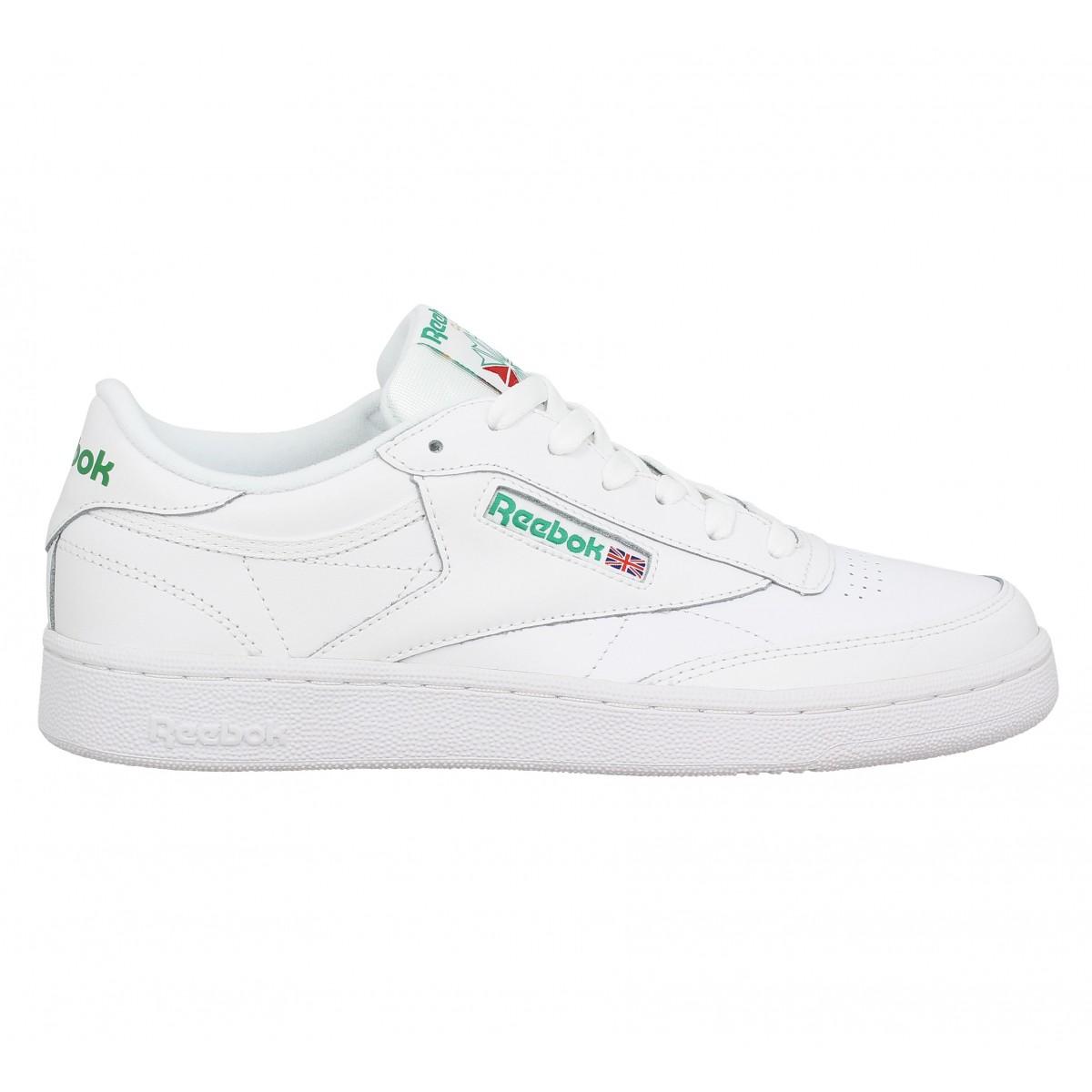 Chaussures Reebok Club C blanches homme dOmOwW