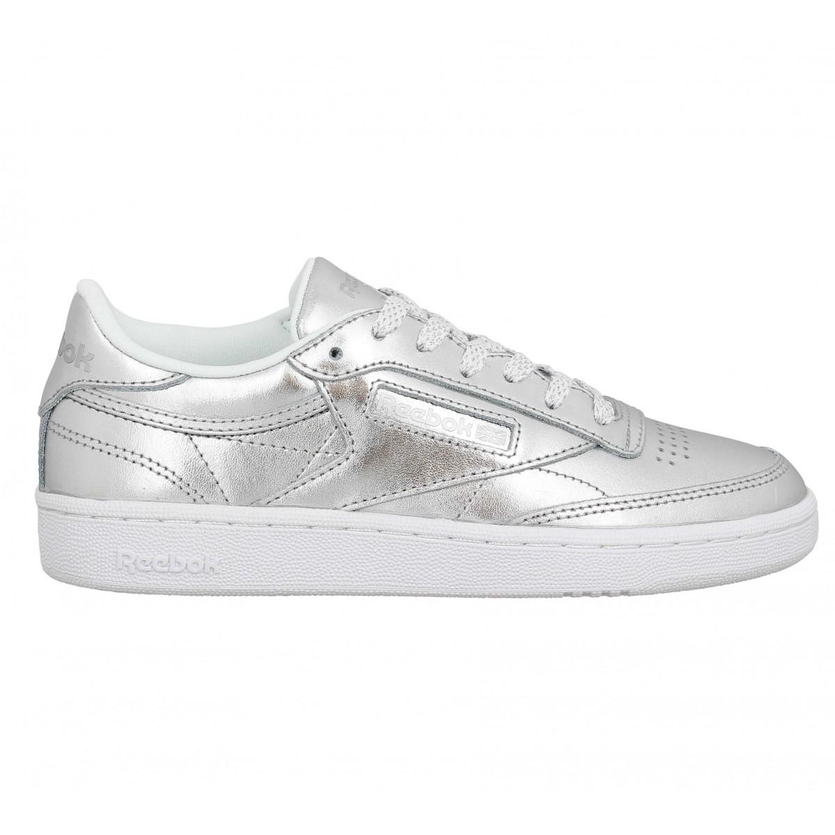Chaussures Reebok argentées femme Q7cPeN4