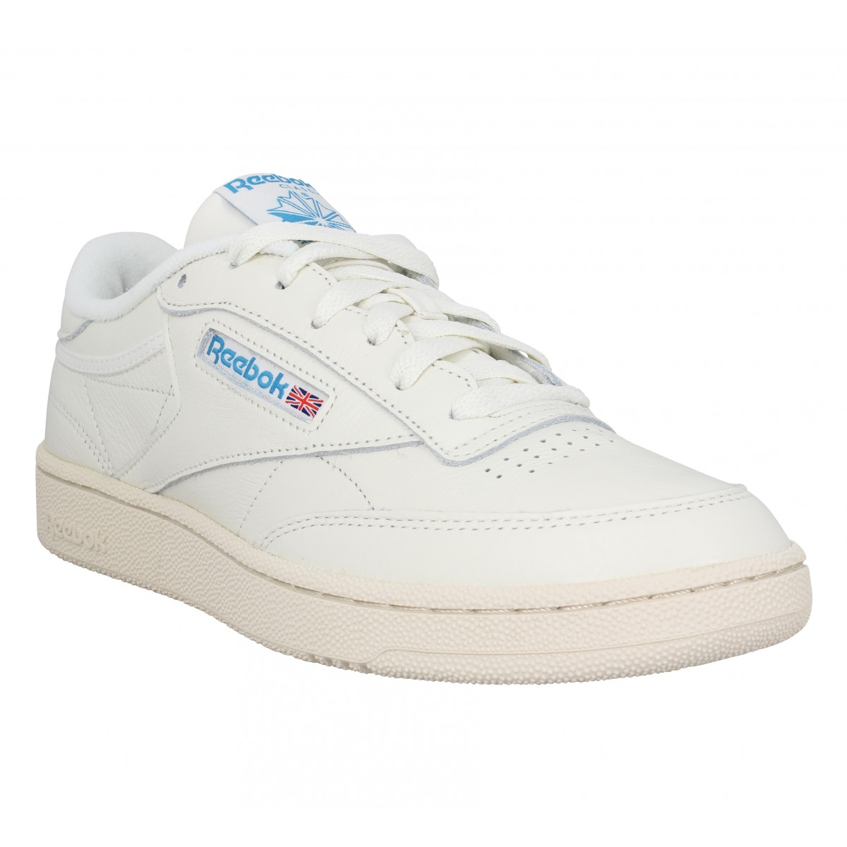 Baskets REEBOK Club C 85 cuir Homme Chalk