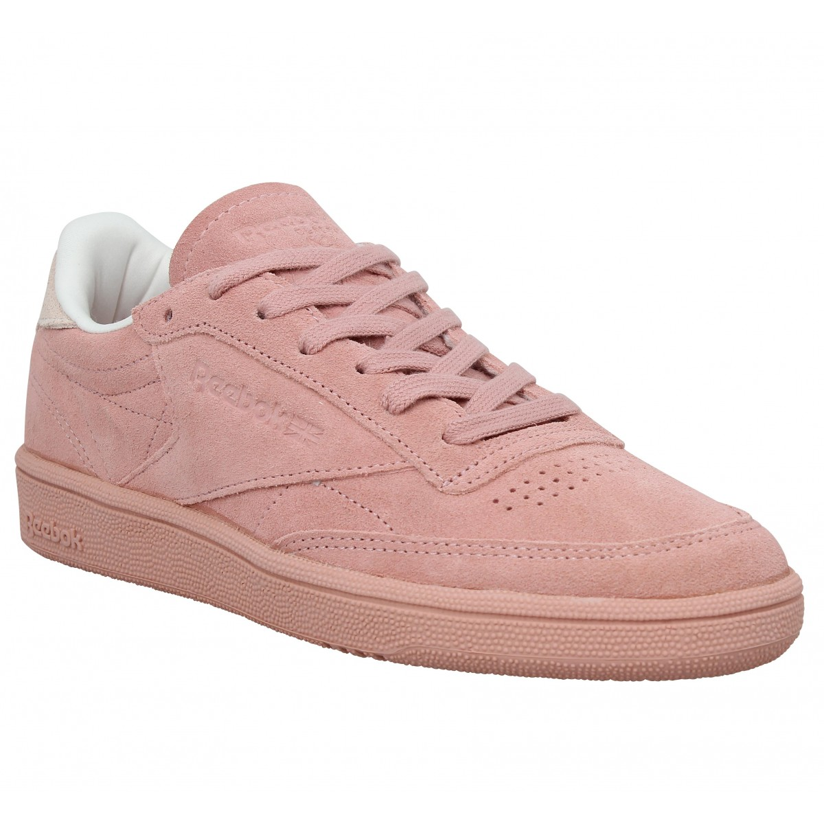 soldes reebok club c 85 velours femme rose femme fanny chaussures. Black Bedroom Furniture Sets. Home Design Ideas