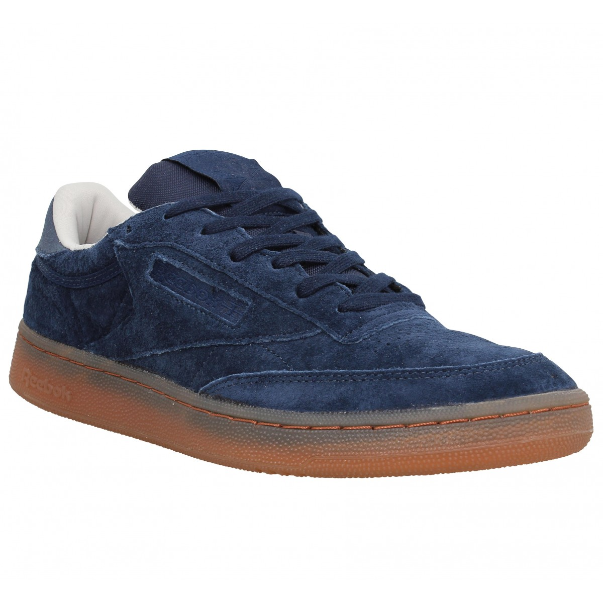 Baskets REEBOK Club C 85 velours Homme Navy