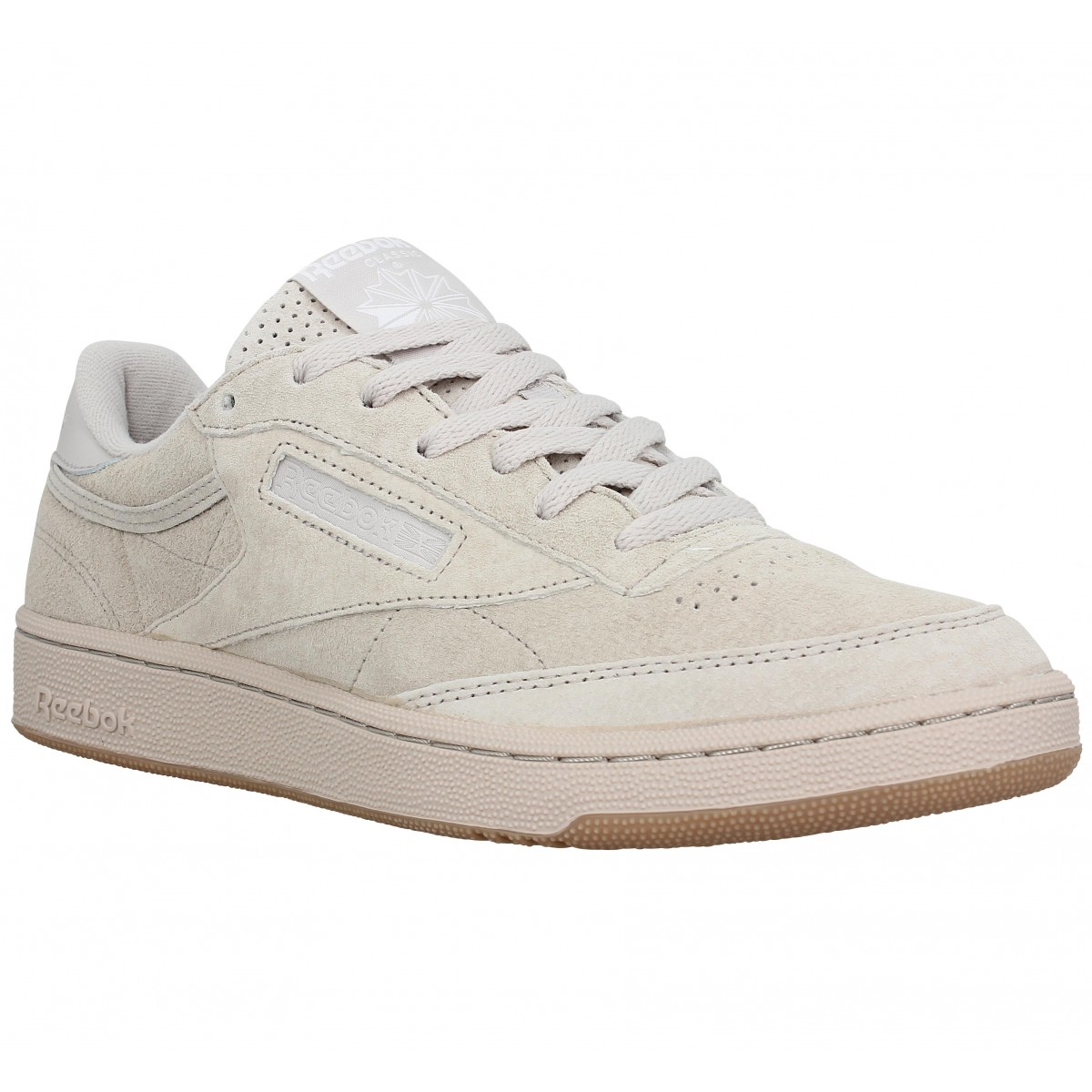 Baskets REEBOK Club C 85 velours Homme Sand