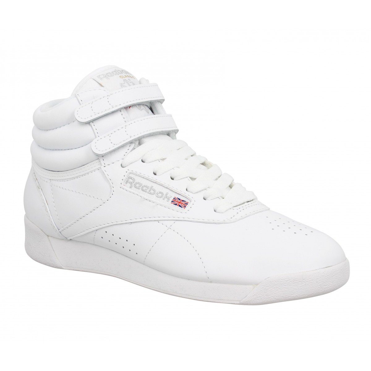 soldes reebok freestyle hi cuir femme blanc fanny chaussures. Black Bedroom Furniture Sets. Home Design Ideas