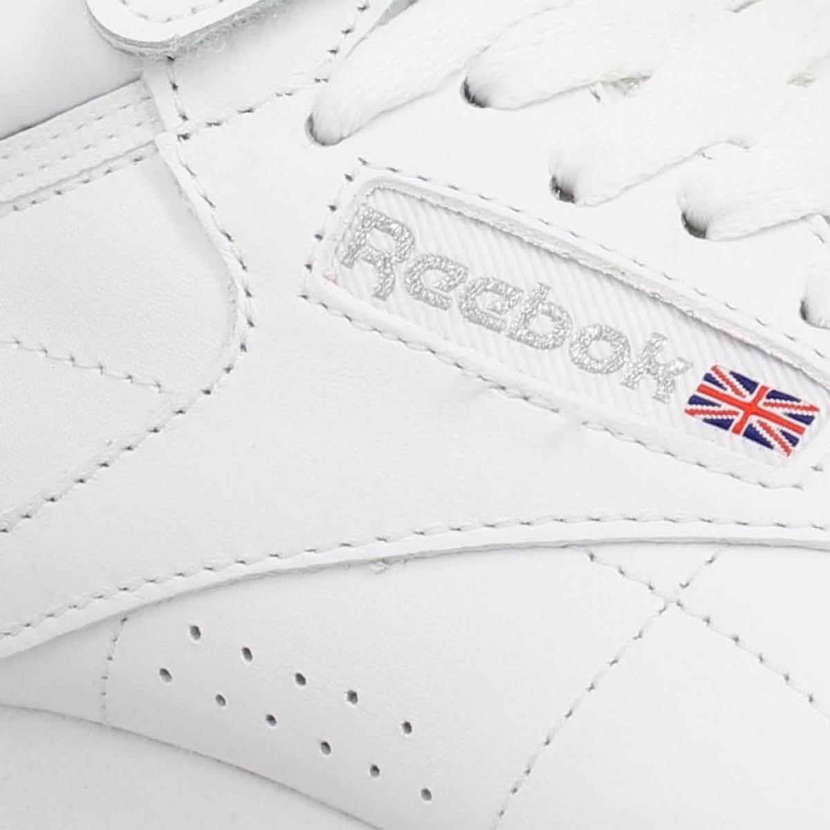 Reebok freestyle hi cuir femme blanc   Fanny chaussures