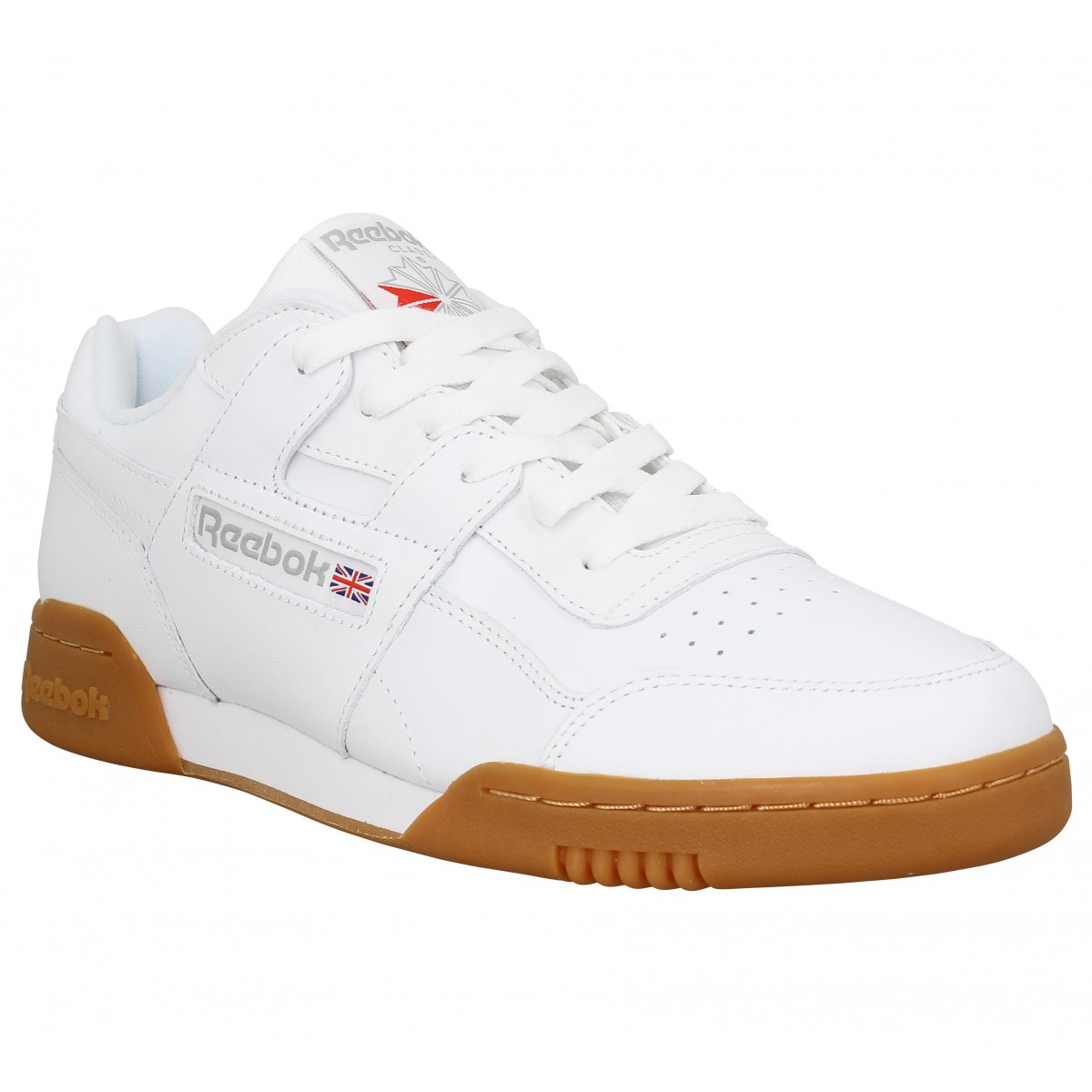 Reebok Homme Workout Plus Cuir -40-blanc