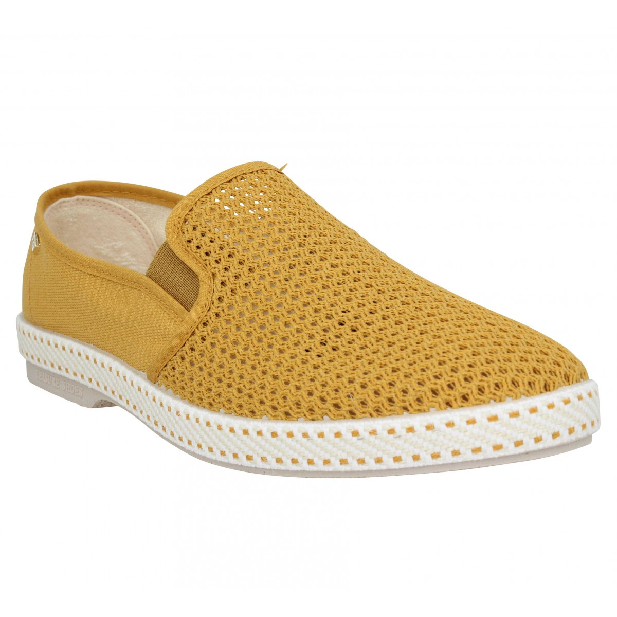 Espadrilles RIVIERAS Classic 20 toile Homme Curry