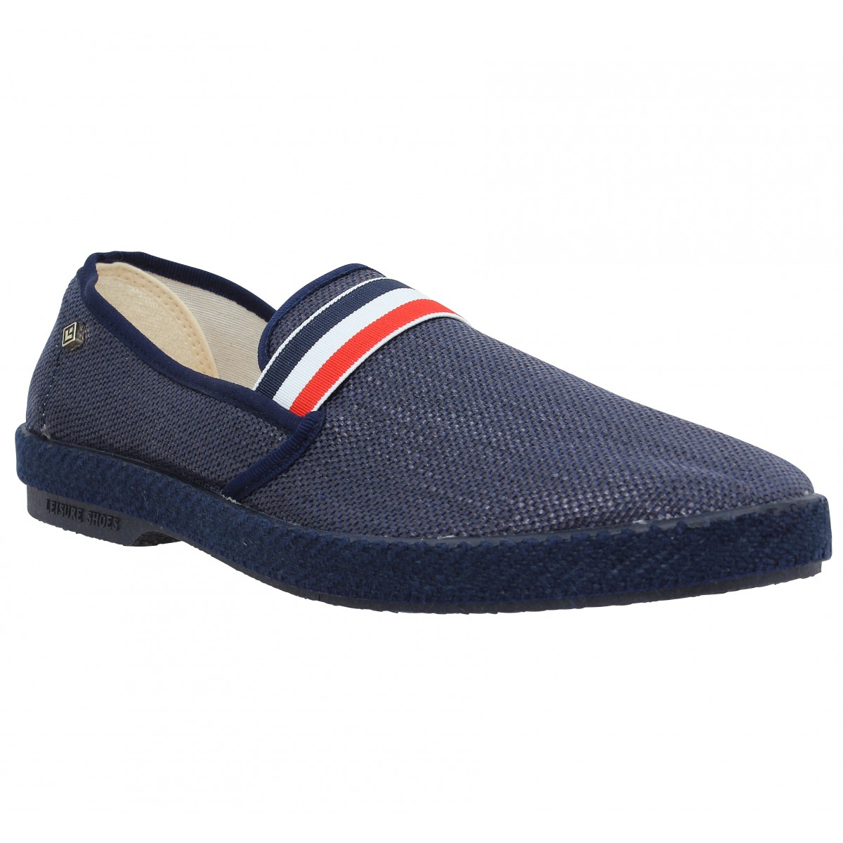 Espadrilles RIVIERAS Cocarde toile Homme Marine
