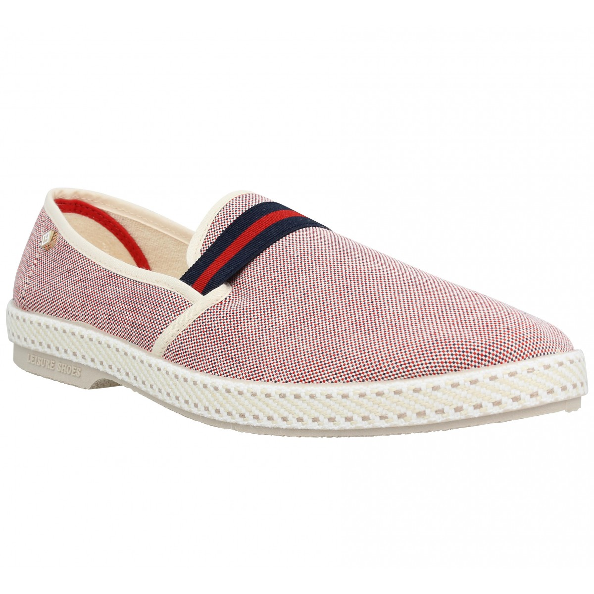 Espadrilles RIVIERAS College toile Homme Rouge