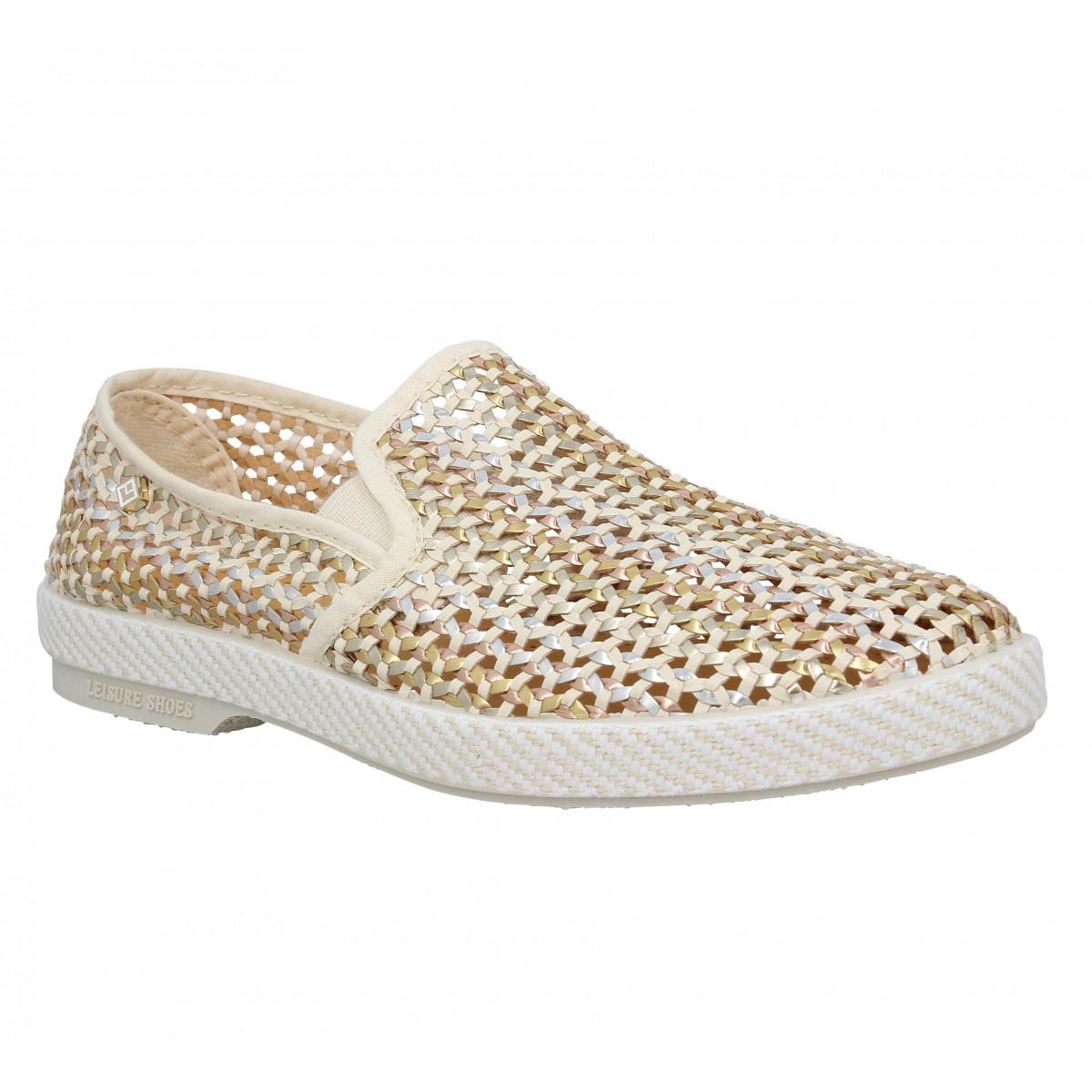 Espadrilles RIVIERAS Lord toile Femme Champagne