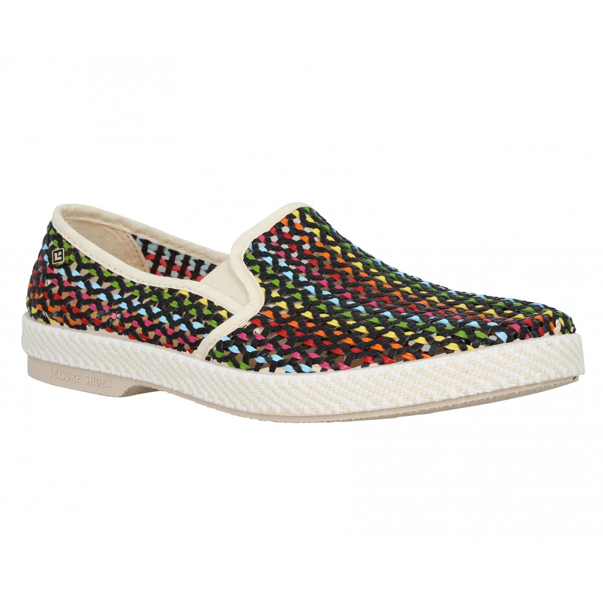 Espadrilles RIVIERAS Lord Zelco tresse Homme Rainbow