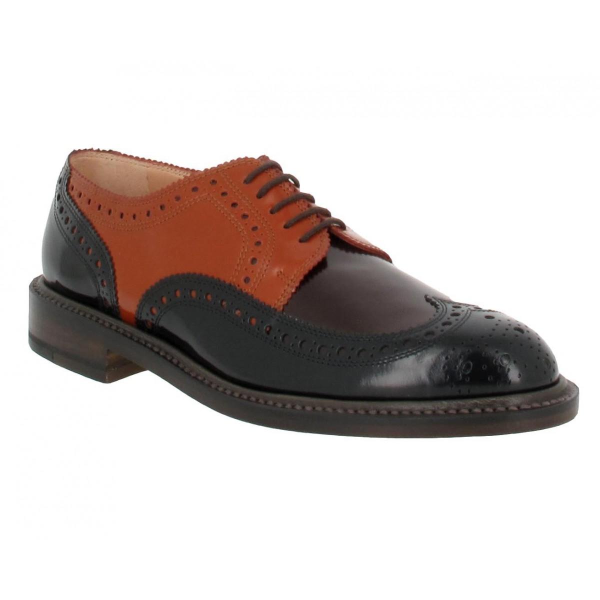 Chaussures à lacets ROBERT CLERGERIE Roeld cuir Femme Marron Multi