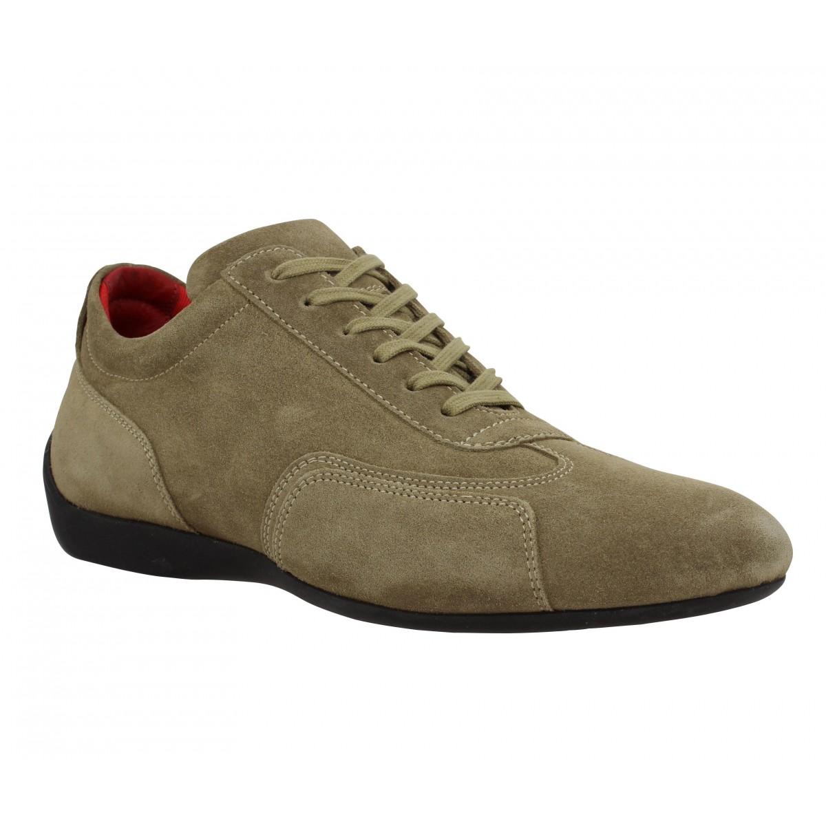 Chaussures à lacets SABELT Granturismo velours Homme Naturel