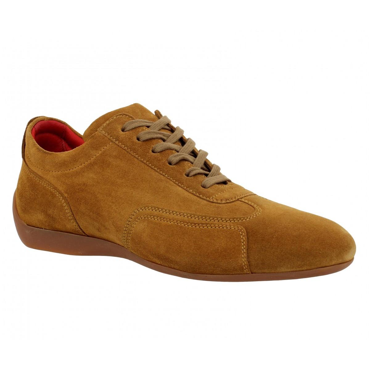 Chaussures à lacets SABELT Granturismo velours Homme Tabac