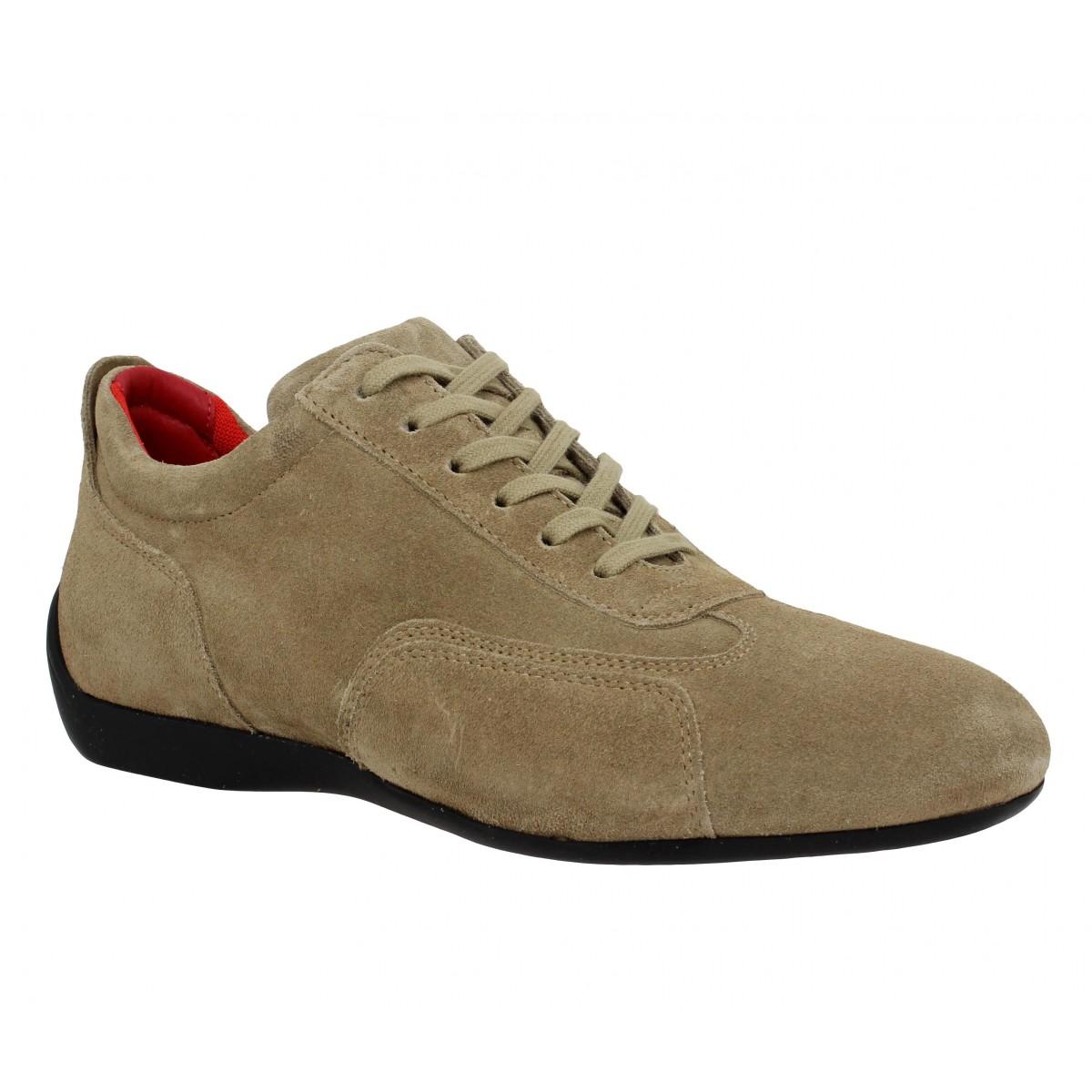 Chaussures à lacets SABELT Granturismo velours Homme Tortora