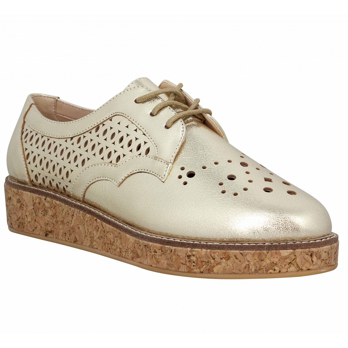 Chaussures à lacets SCHMOOVE Ariane Derby cuir Femme Or