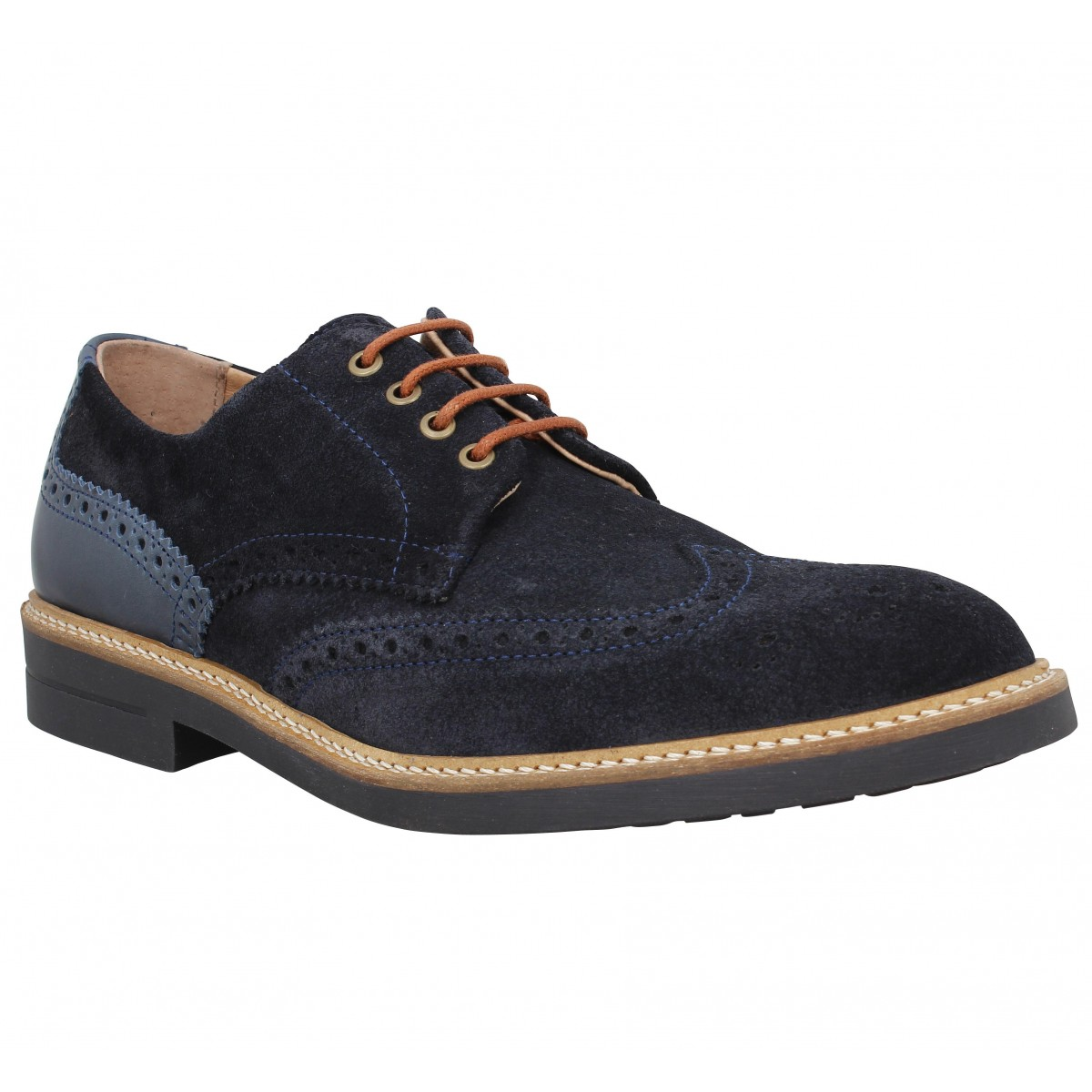 Chaussures à lacets SCHMOOVE Crew Perfo velours Homme Marine