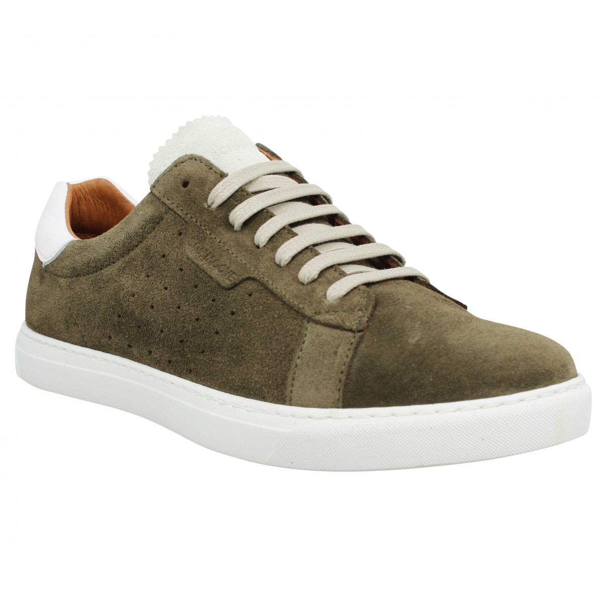 Baskets SCHMOOVE Cup Classic velours Homme Taupe