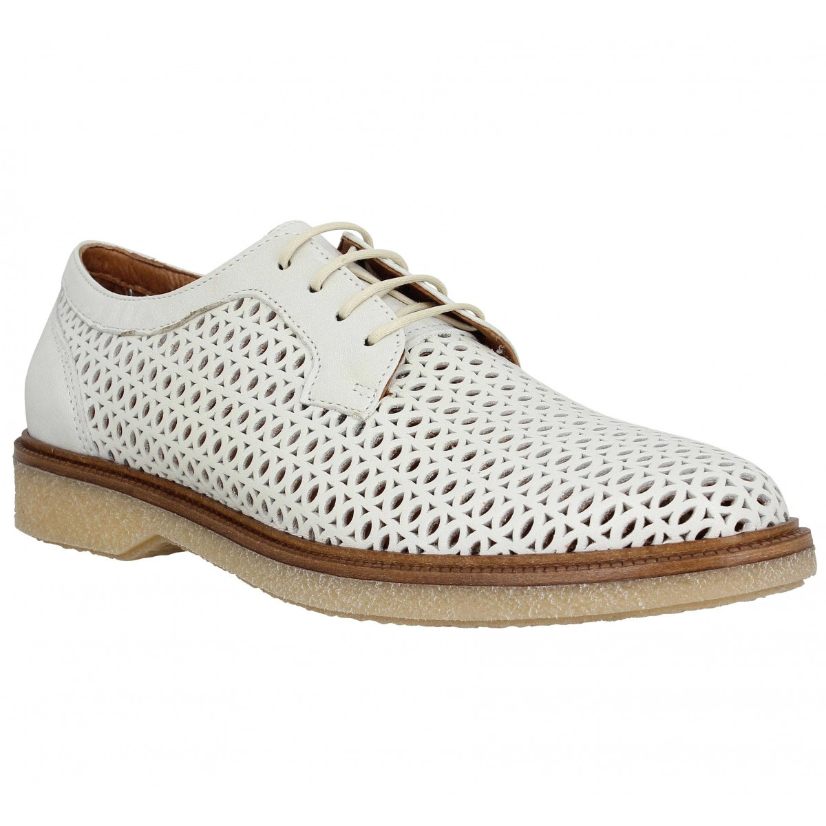 Chaussures à lacets SCHMOOVE Darwin Classic cuir Femme Dove
