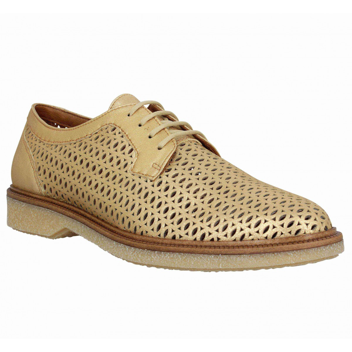 Chaussures à lacets SCHMOOVE Darwin Classic cuir Femme Or