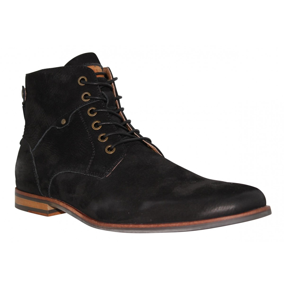 Bottines SCHMOOVE Dirtydandy Edge velours Homme Noir