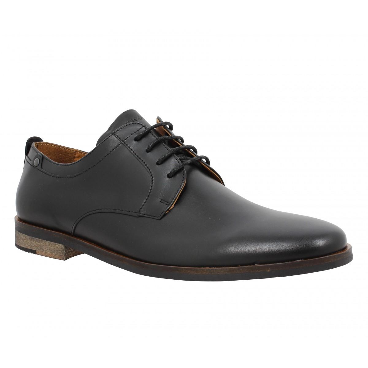Chaussures à lacets SCHMOOVE Dirtydandy Station cuir Homme Noir