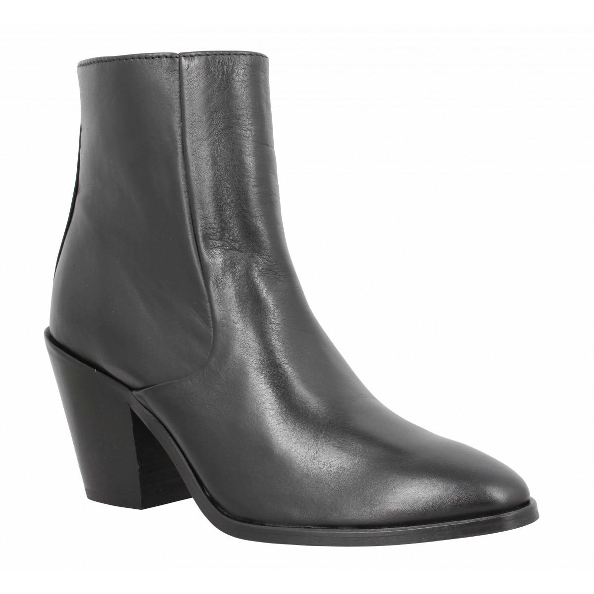 Bottines SCHMOOVE Diva Boots cuir Femme Noir