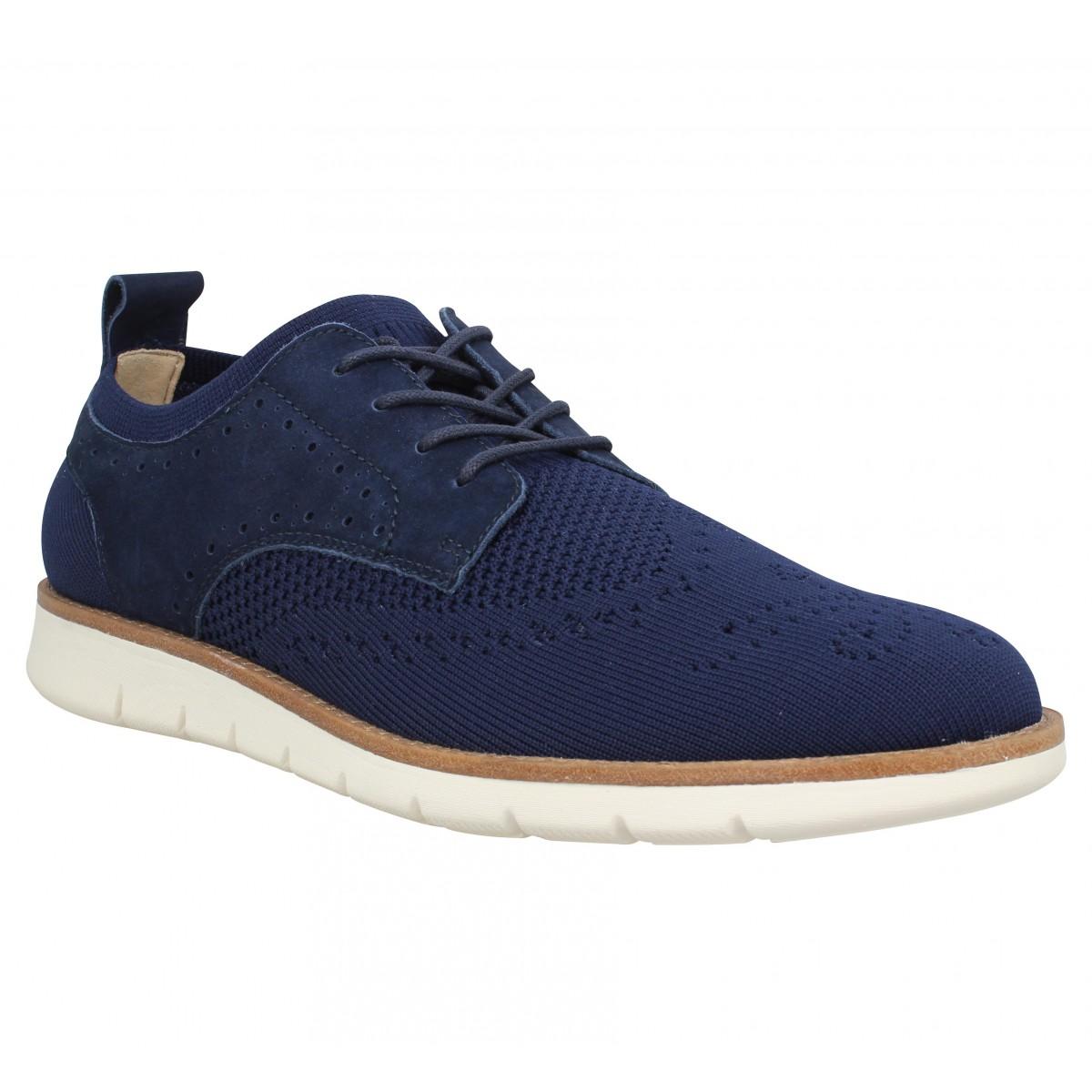 Chaussures à lacets SCHMOOVE Echo Derby textile Homme Marine