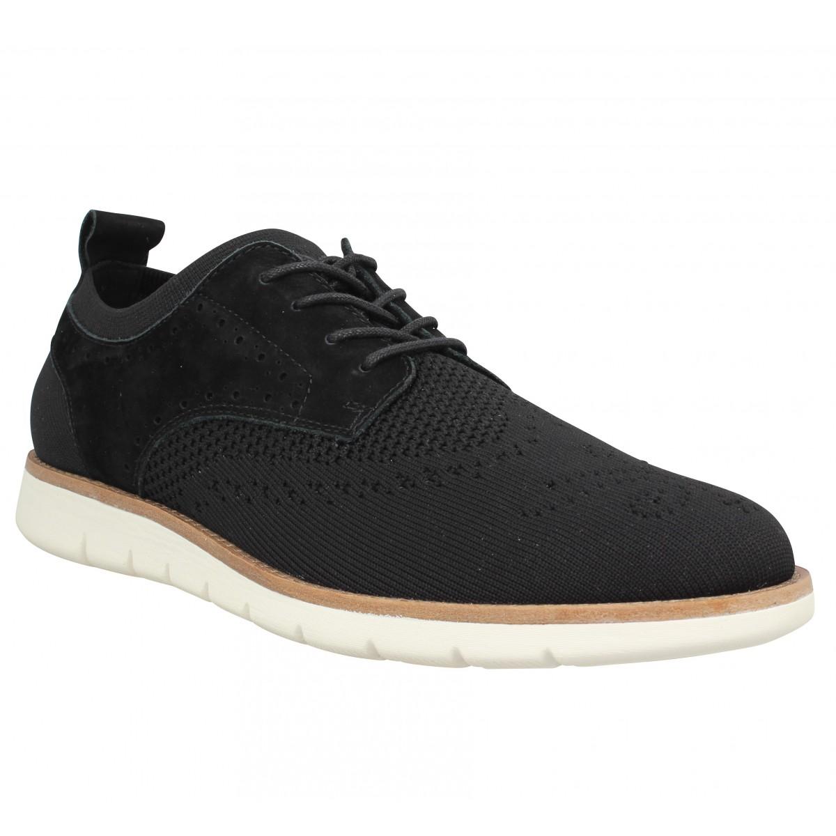 Chaussures à lacets SCHMOOVE Echo Derby textile Homme Noir