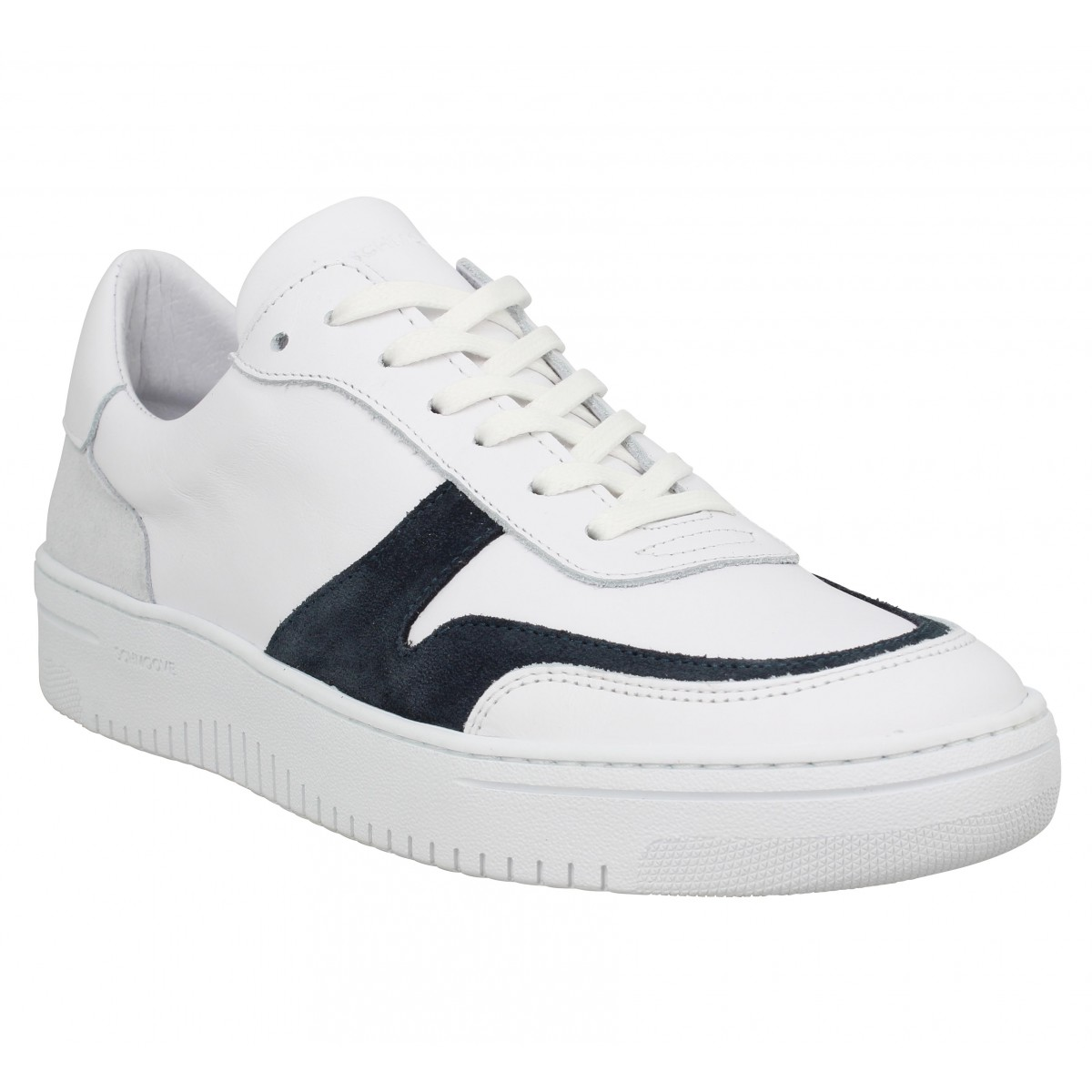 Baskets SCHMOOVE Evoc Sneaker cuir Homme Blanc