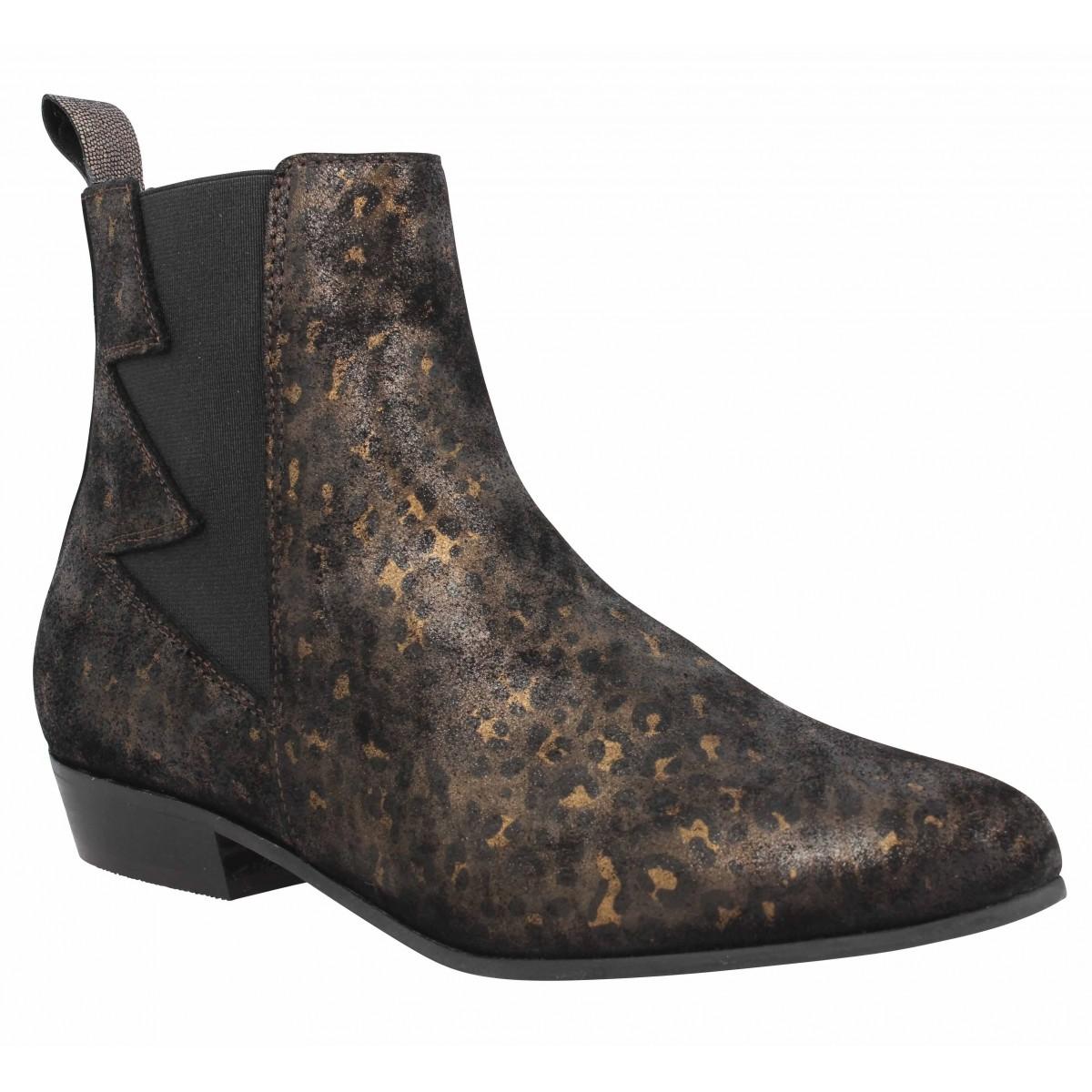 Bottines SCHMOOVE Peckham Boots cuir Femme Noir