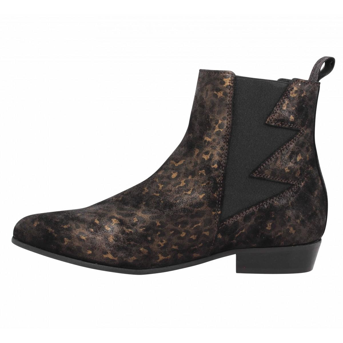e6c42301e6e4a Schmoove peckham boots cuir femme noir femme   Fanny chaussures