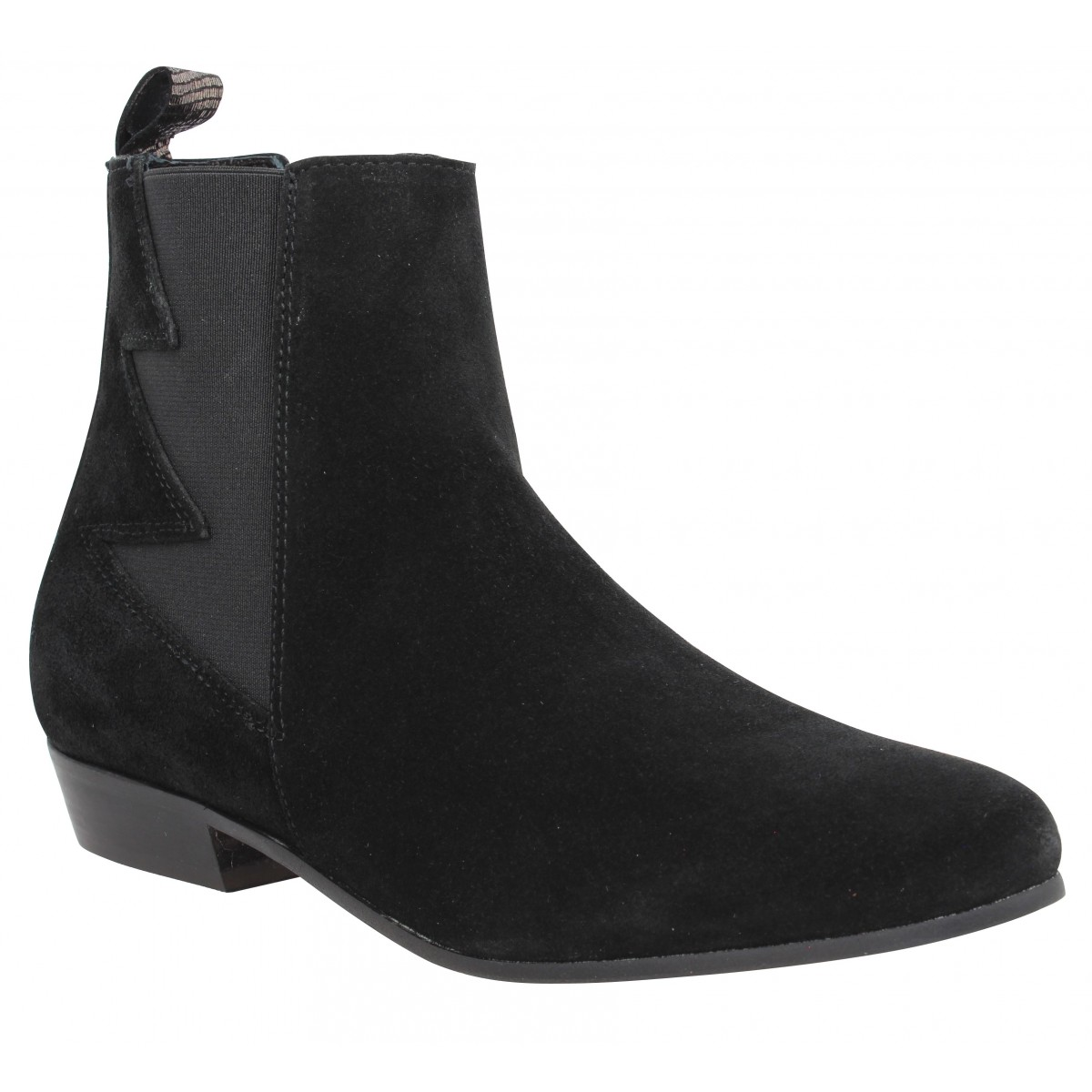 Bottines SCHMOOVE Peckham Boots velours Femme Noir