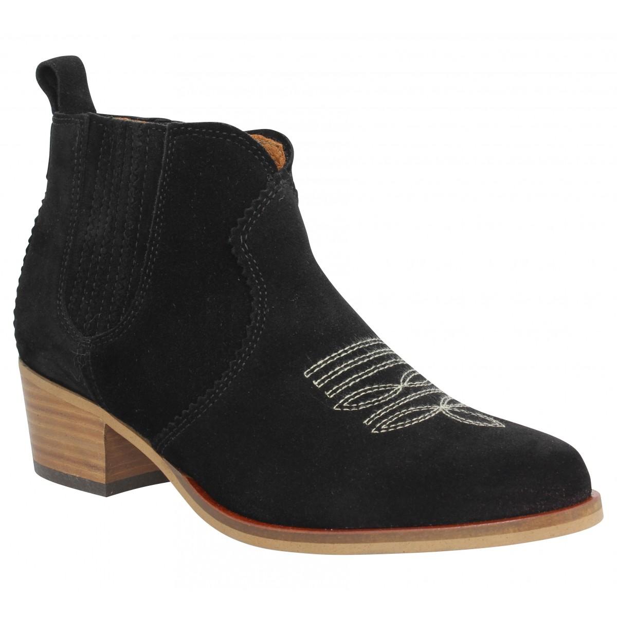 Bottines SCHMOOVE Polly Boots suede Femme Noir