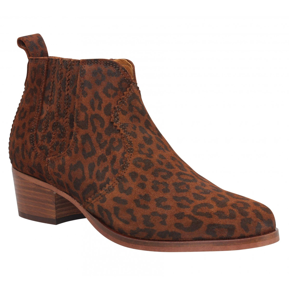Bottines SCHMOOVE Polly Boots suede Femme Whisky