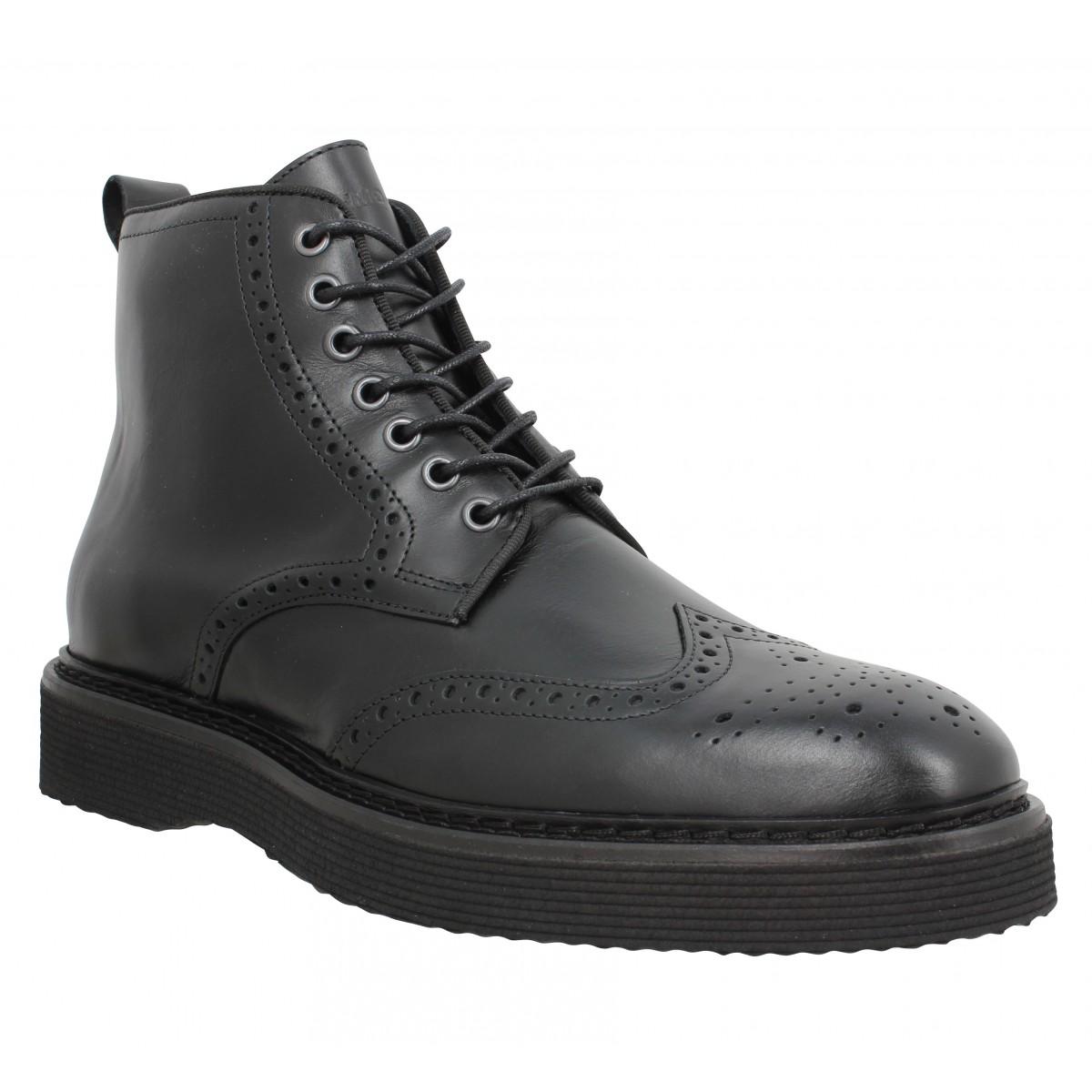 Bottines SCHMOOVE Roma Boots cuir Homme Noir