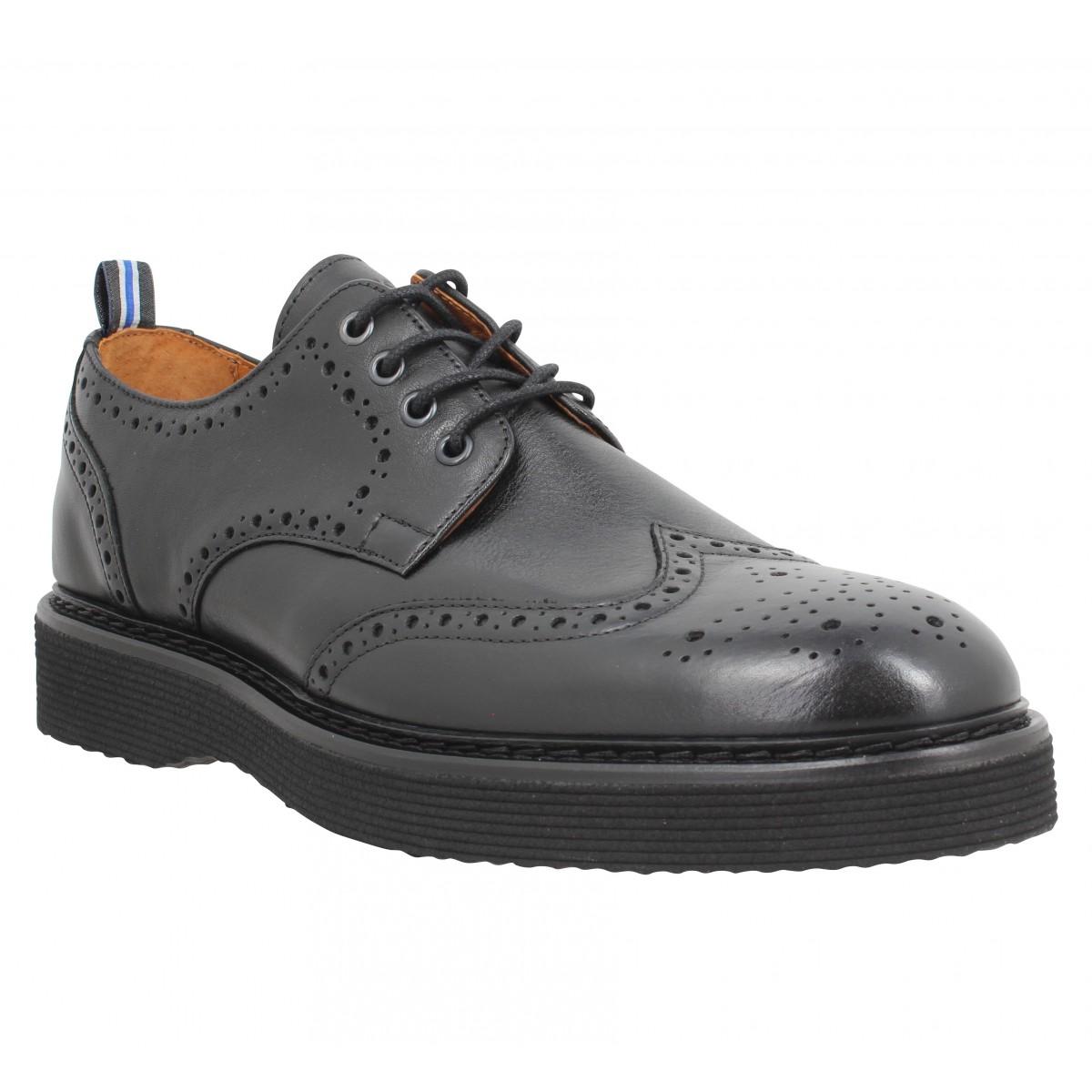 Chaussures à lacets SCHMOOVE Roma Perfo cuir antik Homme Noir