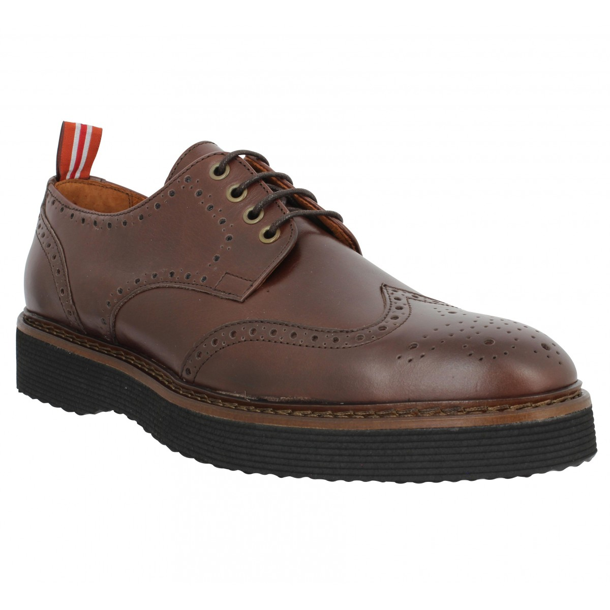 Chaussures à lacets SCHMOOVE Roma Perfo cuir Homme Marron
