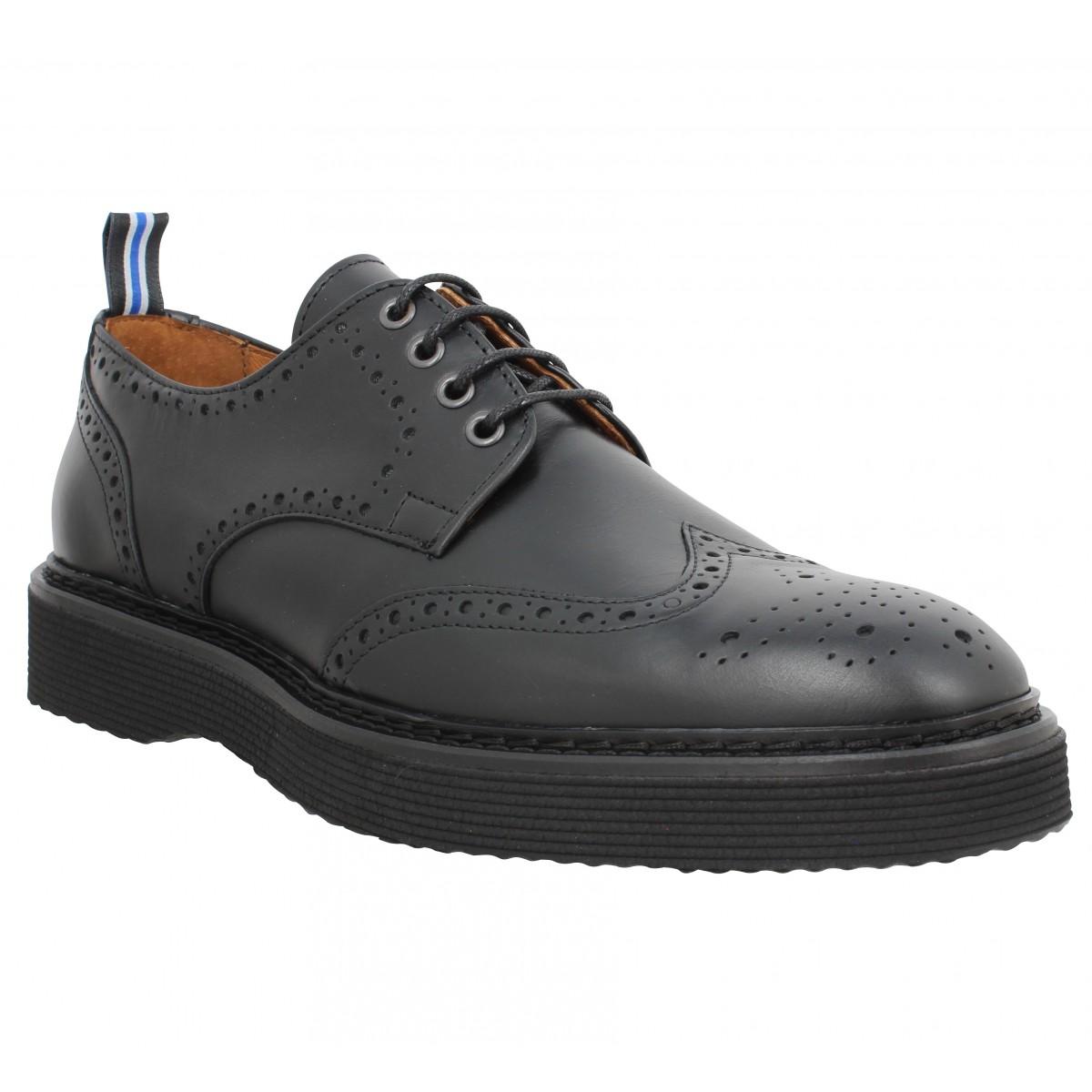 Chaussures à lacets SCHMOOVE Roma Perfo cuir Homme Noir