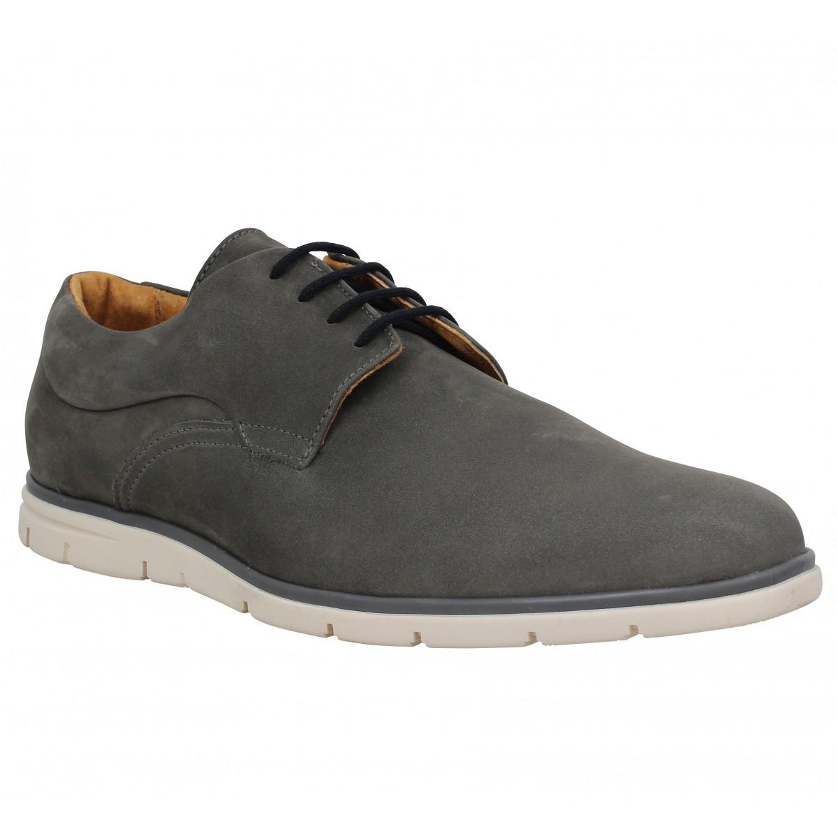 Chaussures à lacets SCHMOOVE Shaft Derby velours Homme Gris