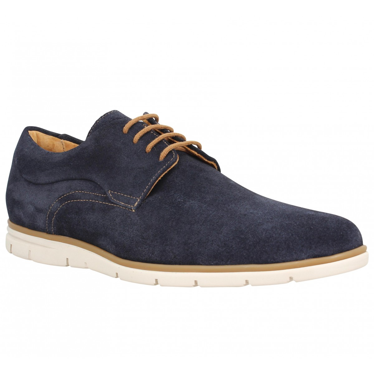 Chaussures à lacets SCHMOOVE Shaft Derby velours Homme Navy
