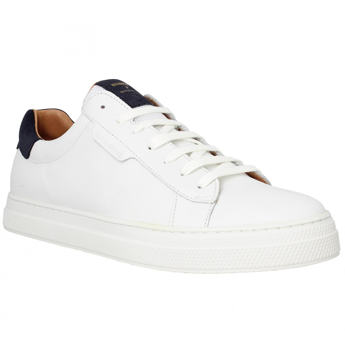 Baskets SCHMOOVE Spark Clay cuir Homme White