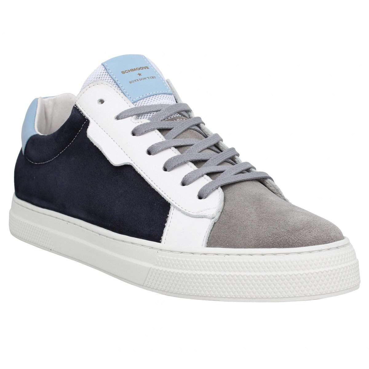 Baskets SCHMOOVE Spark Clay velours Homme Azul