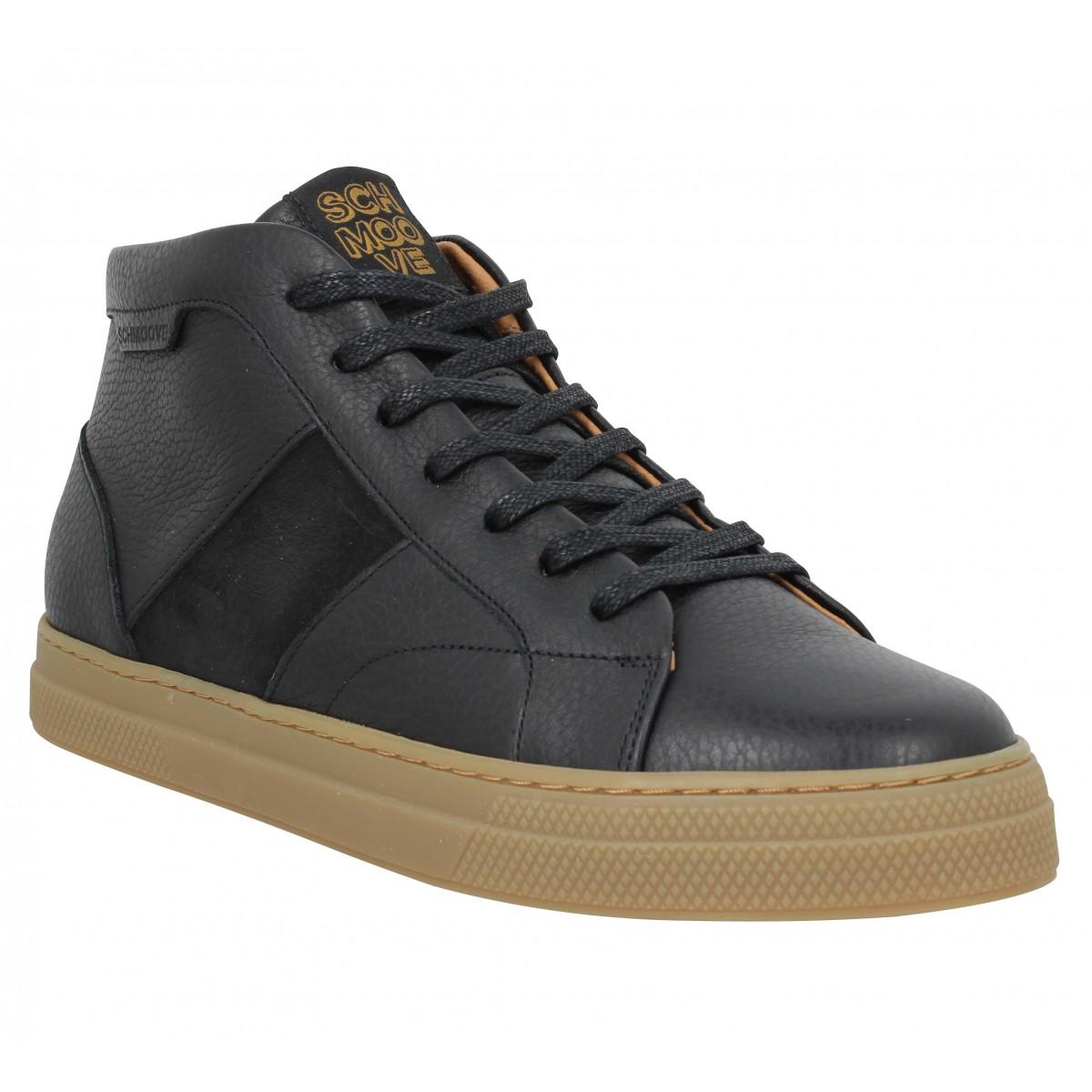 Baskets SCHMOOVE Spark Low Boots cuir velours Homme Noir