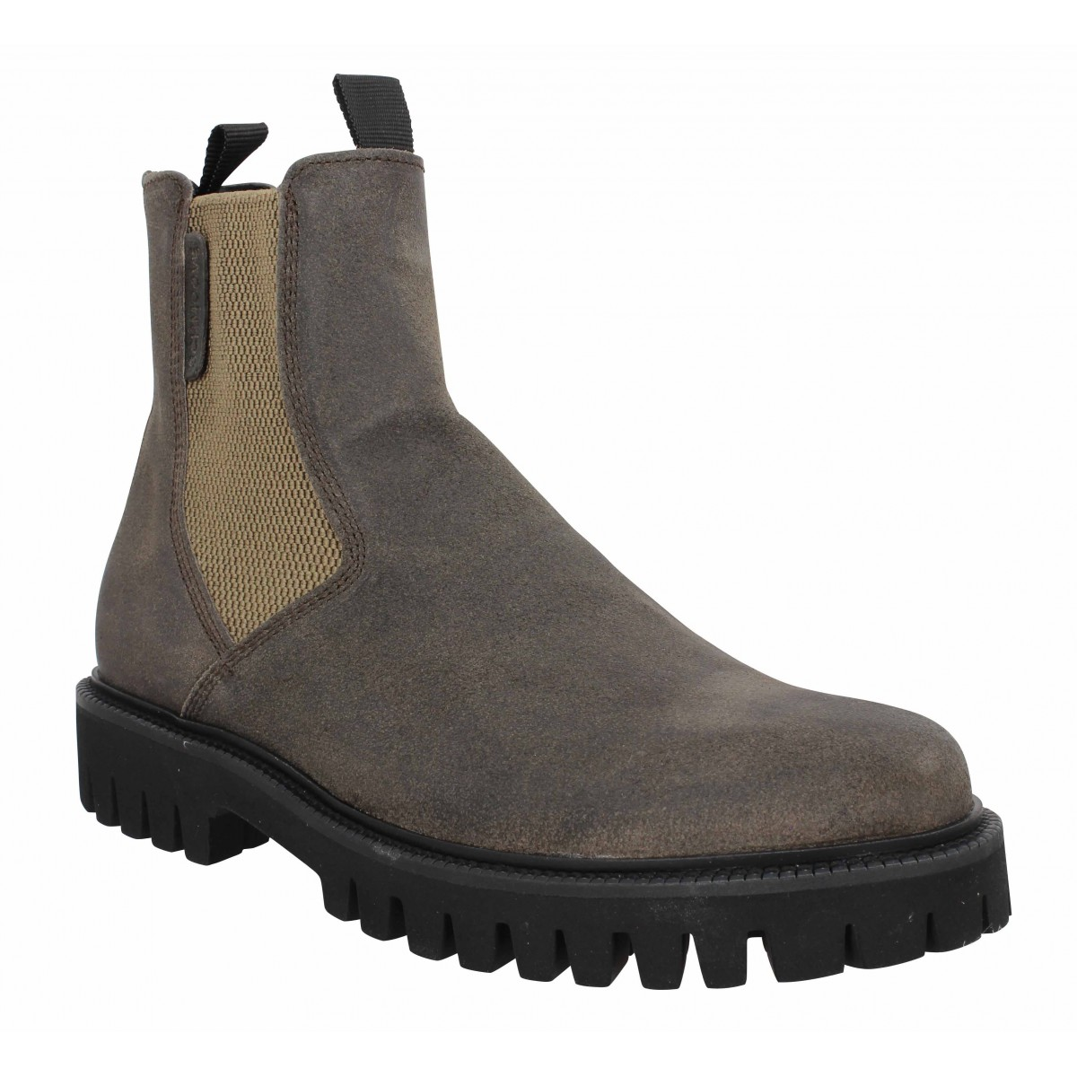 Bottines SCHMOOVE Stomp Chelsea oil suede Homme Taupe