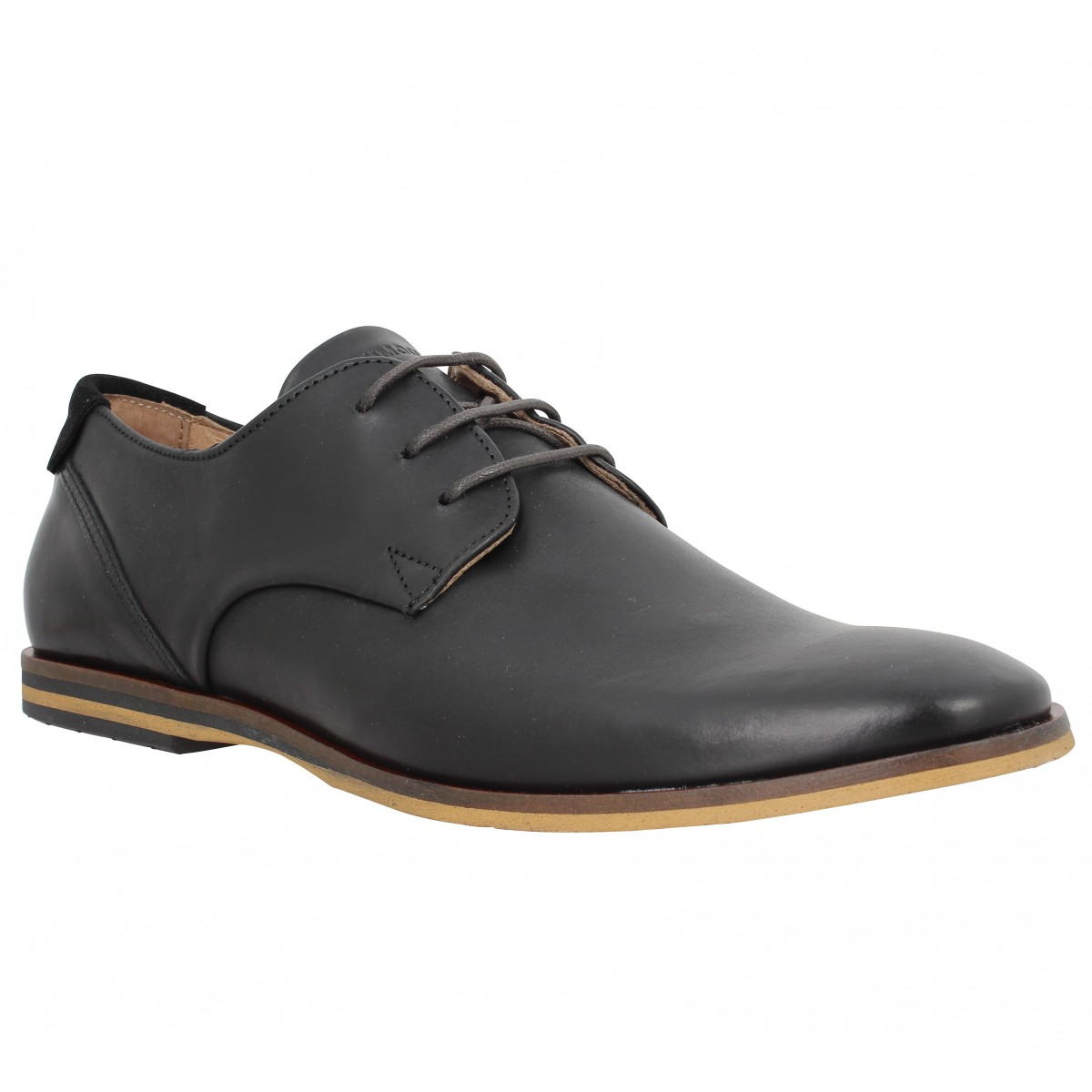 Chaussures à lacets SCHMOOVE Swan Derby cuir Homme Nero