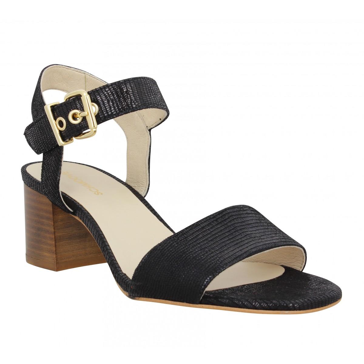 Sandales talons SCHMOOVE Venus Sandale cuir Femme Noir