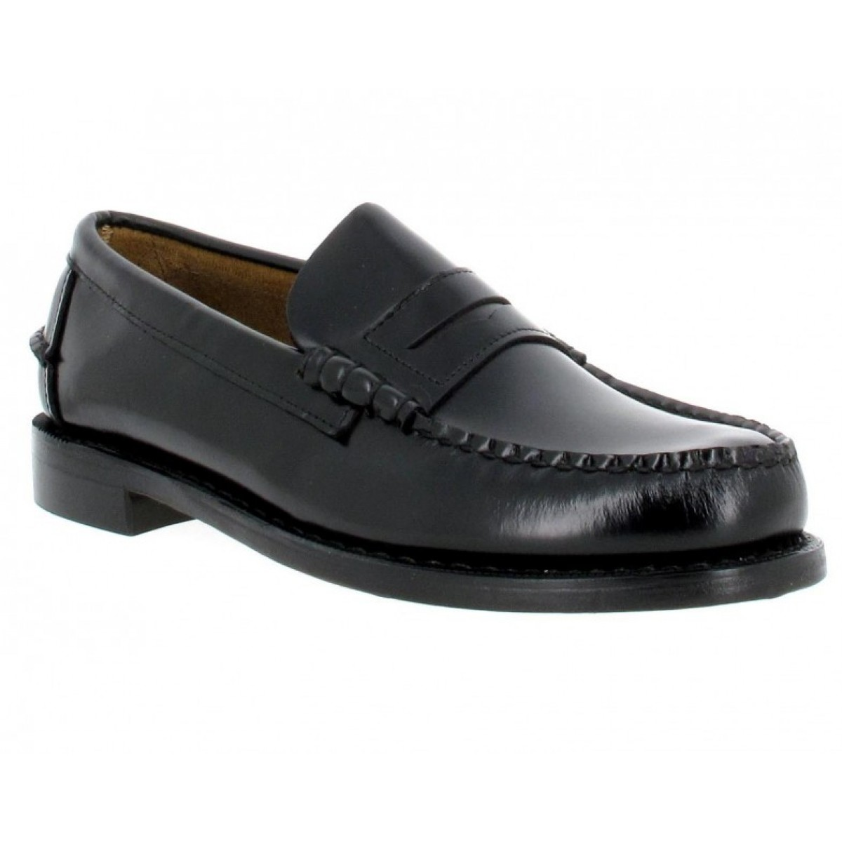Mocassins SEBAGO Classic 3E cuir Homme Noir