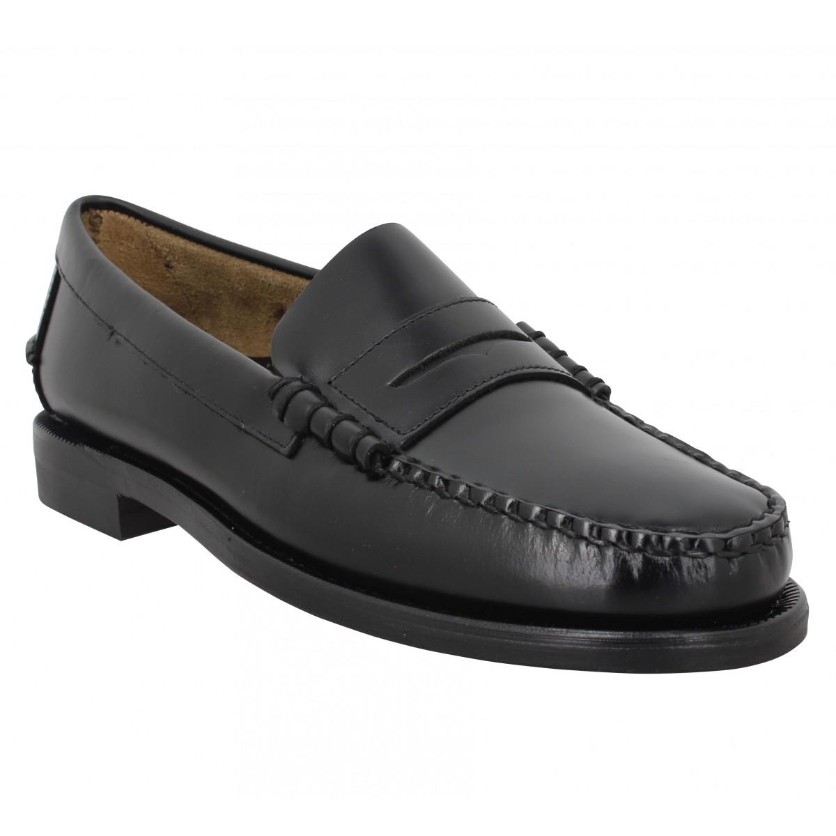 Mocassins SEBAGO Classic Dan R (Regular) cuir Homme Black